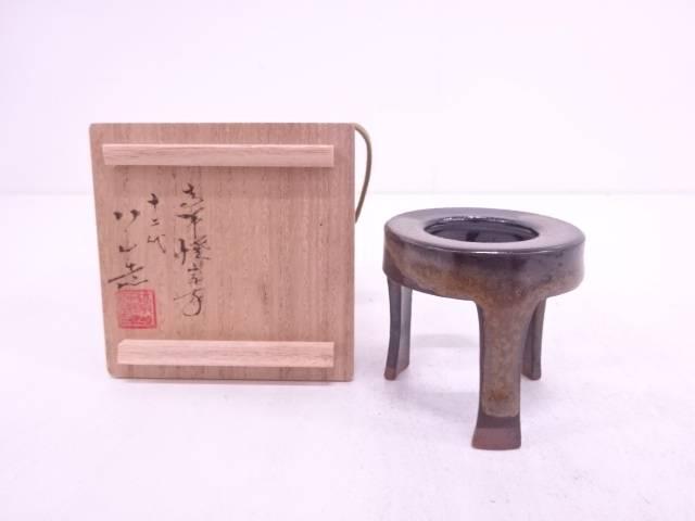 【IDN】 高取焼 十二代高取八仙造 五徳蓋置【中古】【道】