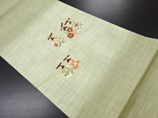 【IDN】 果物模様織り出し袋帯【リサイクル】【中古】【着】