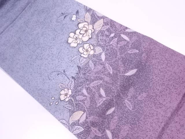 【IDN】 未使用品 作家物 手描き草花模様袋帯(未仕立て)(あぜくら)【リサイクル】【着】