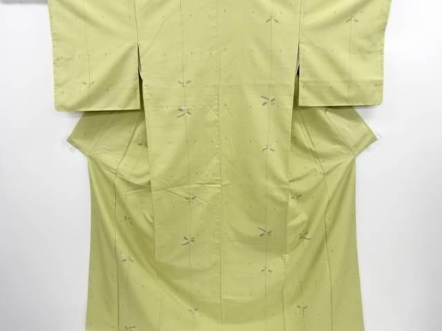 【IDN】 十字に草の実模様織り出し手織り紬着物【リサイクル】【中古】【着】