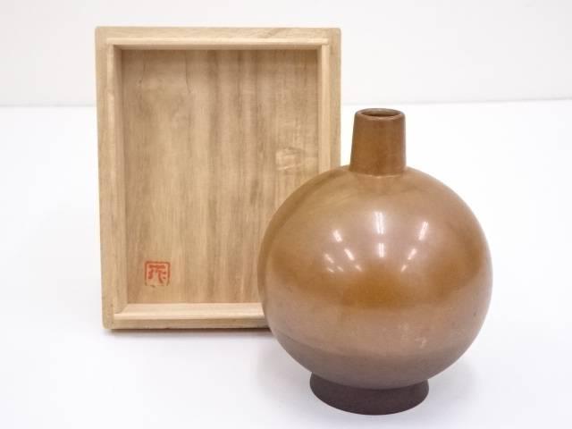 【IDN】 田畑一作造 銅樫の実一輪挿【中古】【道】