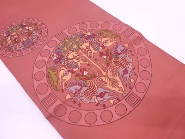 【IDN】 龍村製 天平狩猟錦袋帯(三越扱い)【アンティーク】【中古】【着】