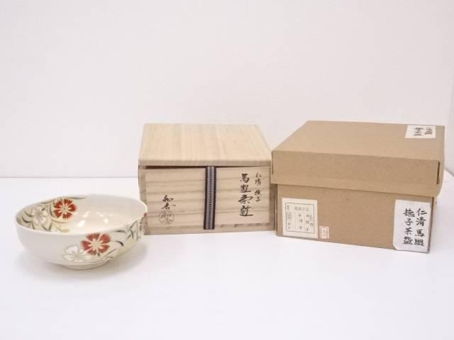 【IDN】 京焼 文月和香造 仁清撫子馬盥茶碗【中古】【道】