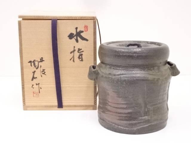 【IDN】 丹波焼 村田陶石造 水指【中古】【道】