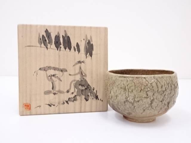 【IDN】 作家物 灰釉茶碗【中古】【道】