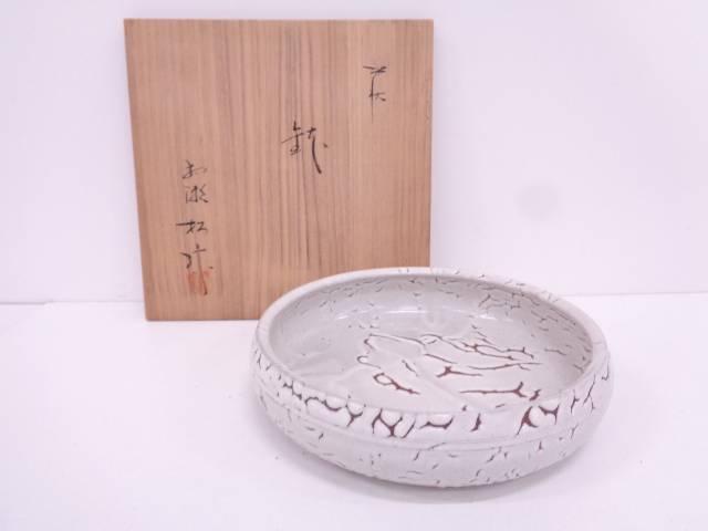 【IDN】 萩焼 松緑造 平鉢【中古】【道】