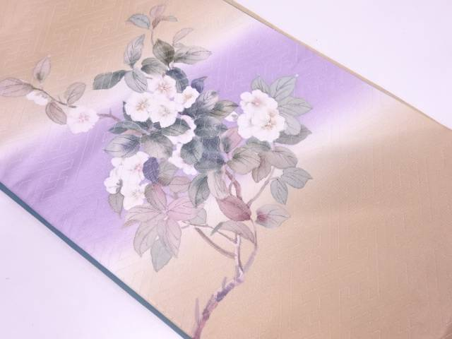 【IDN】 二代目清次郎 手描き枝花模様袋帯【リサイクル】【中古】【着】