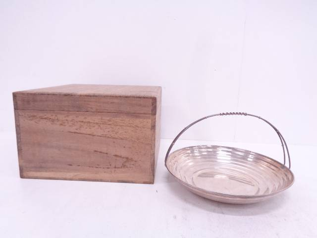 【IDN】 作家物 銀製手付菓子器(156グラム)【中古】【道】