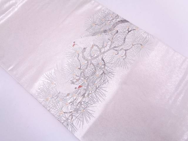 【IDN】 橋本織物製 若松に文鳥模様織出し袋帯 【リサイクル】【中古】【着】