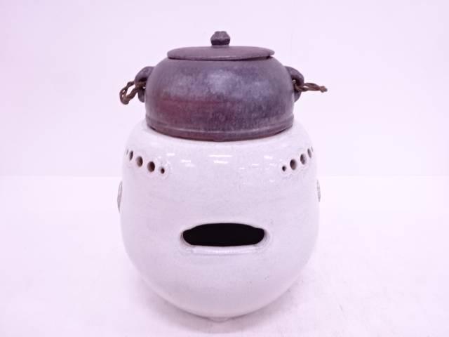 【IDN】 白釉陶風炉・釜揃【中古】【道】