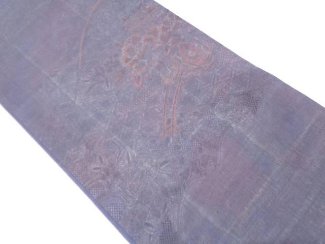 【IDN】 汕頭相良刺繍花車模様袋帯 【リサイクル】【中古】【着】
