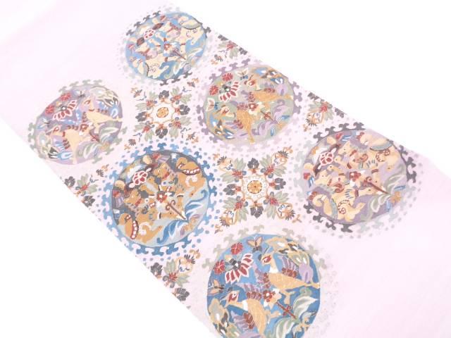 爆買い! 【IDN】 明綴れ向かい動物に草花模様織出し袋帯【リサイクル】【中古【IDN】】【着】, はこだてビール:f020a606 --- tijnbrands.com