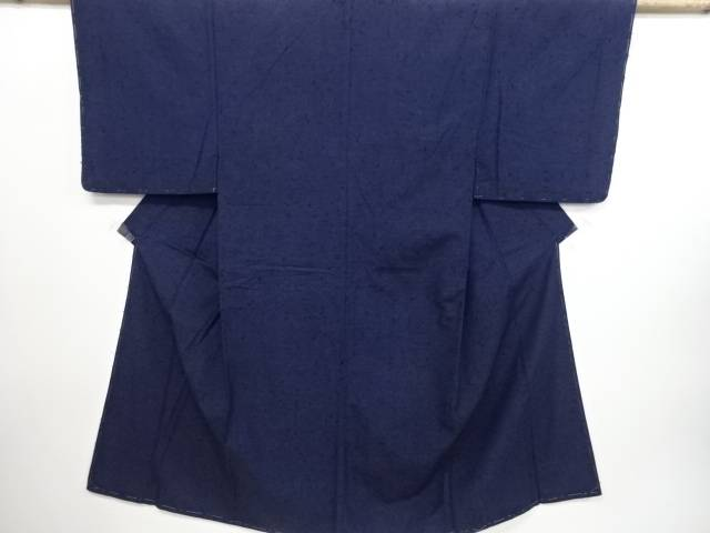 【IDN】 未使用品 手織り真綿ひげ紬男物着物アンサンブル【リサイクル】【着】