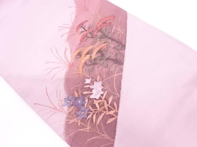 【IDN】 すくい織秋草模様織出し袋帯【リサイクル】【中古】【着】