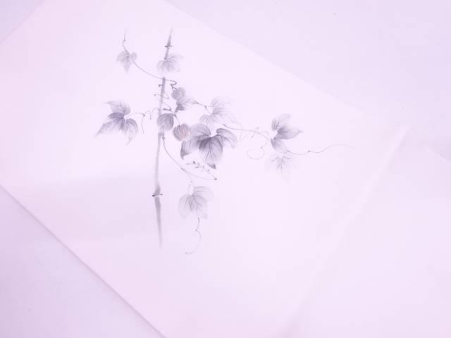 【IDN】 未使用品 手描き駒絽竹に蔦の葉模様名古屋帯【リサイクル】【着】