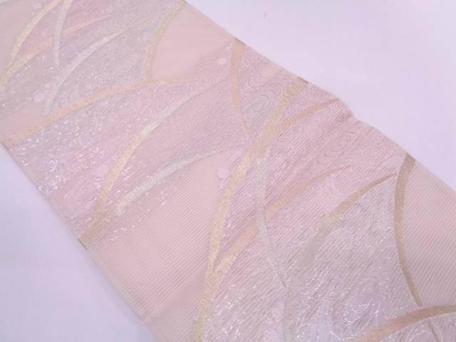 【IDN】 絽紗観世水に露草模様織出し袋帯【リサイクル】【中古】【着】