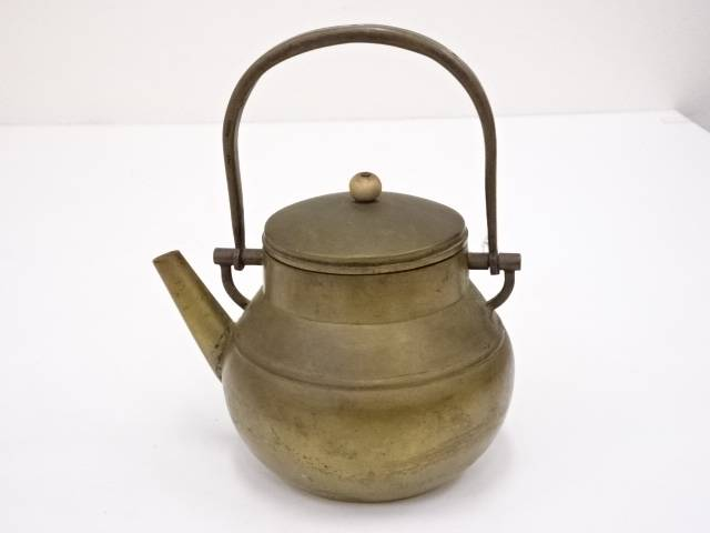 【IDN】 古物 銅鉄砲口湯沸銅瓶【中古】【道】