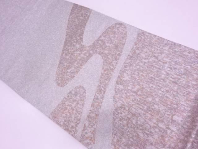 【IDN】 本漆津軽箔流水模様織出し袋帯【リサイクル】【中古】【着】