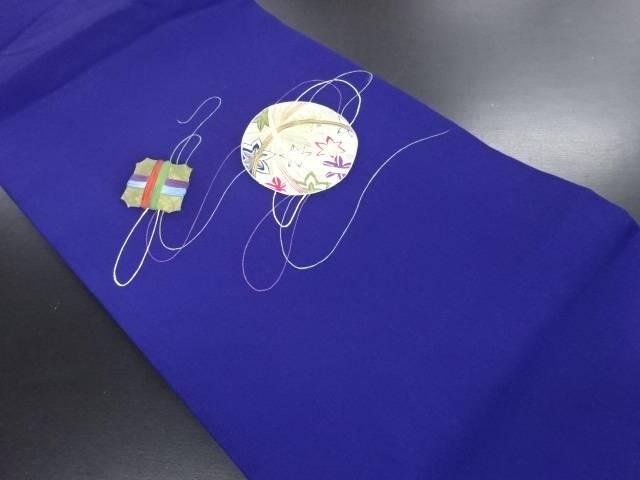 【IDN】 塩瀬手描き糸巻きに手毬模様名古屋帯【リサイクル】【中古】【着】