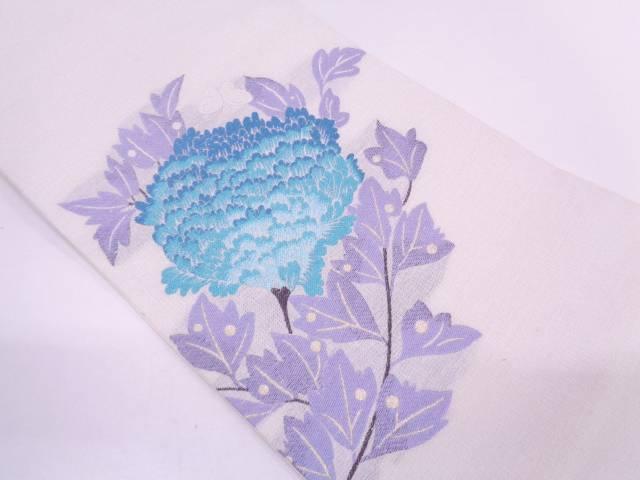 【IDN】 蝶に草花模様織出し夏用袋帯【リサイクル】【中古】【着】