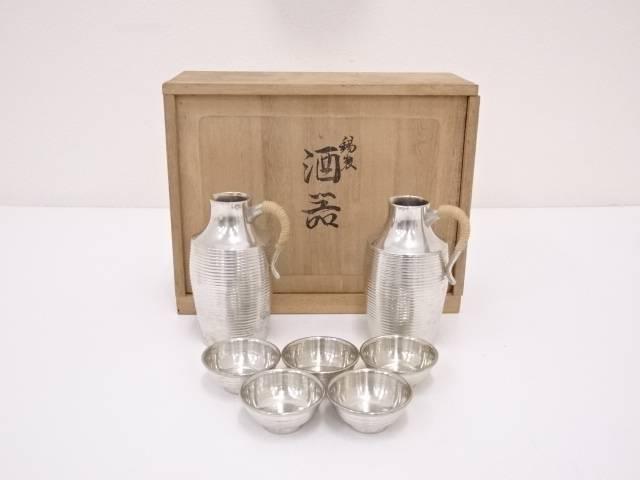 【IDN】 錫半造 錫製酒器セット(410g)【中古】【道】