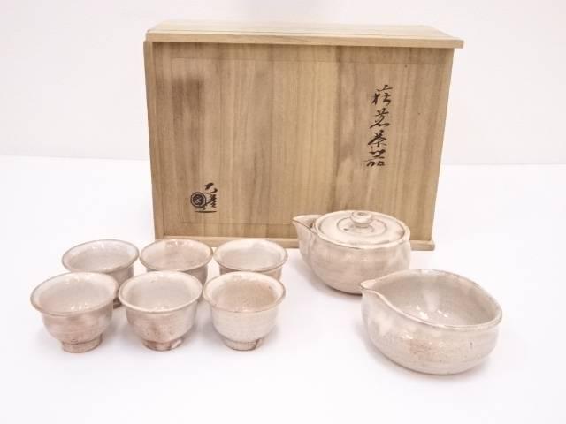 【IDN】 萩焼 水津乙彦造 煎茶器セット【中古】【道】