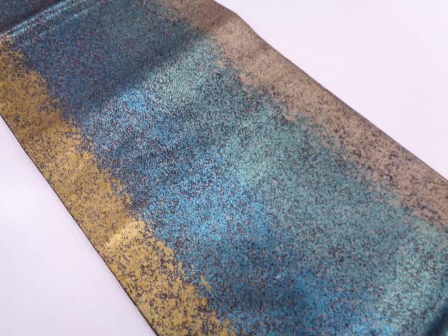 【IDN】 草木染引箔抽象模様袋帯【リサイクル】【中古】【着】