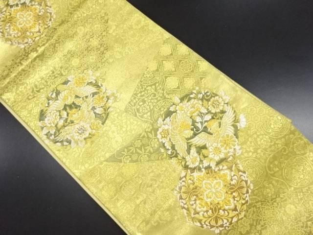 【IDN】 金糸鳳凰文織り出し袋帯【リサイクル】【中古】【着】