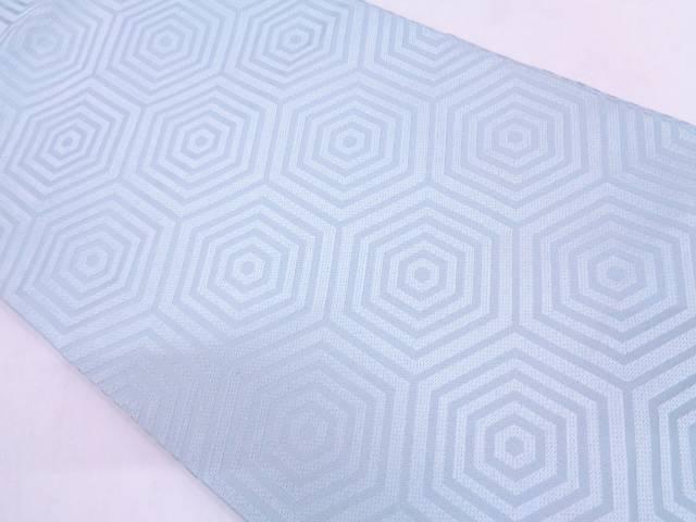 【IDN】 川島織物製 重ね亀甲繋ぎ模様織出し名古屋帯【リサイクル】【中古】【着】