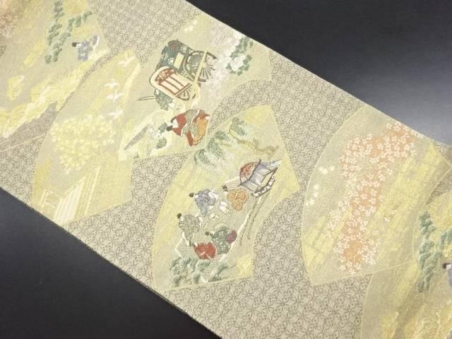 【IDN】 未使用品 王朝絵巻織り出し袋帯【リサイクル】【着】