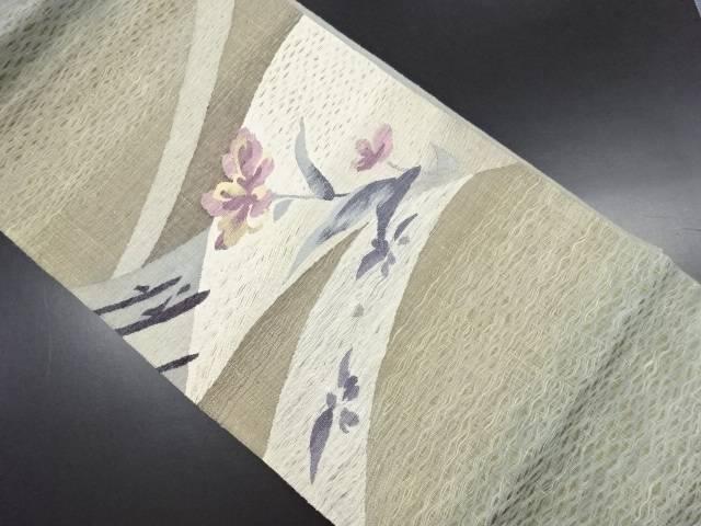 【IDN】 未使用品 すくい織花模様織り出し袋帯【リサイクル】【着】