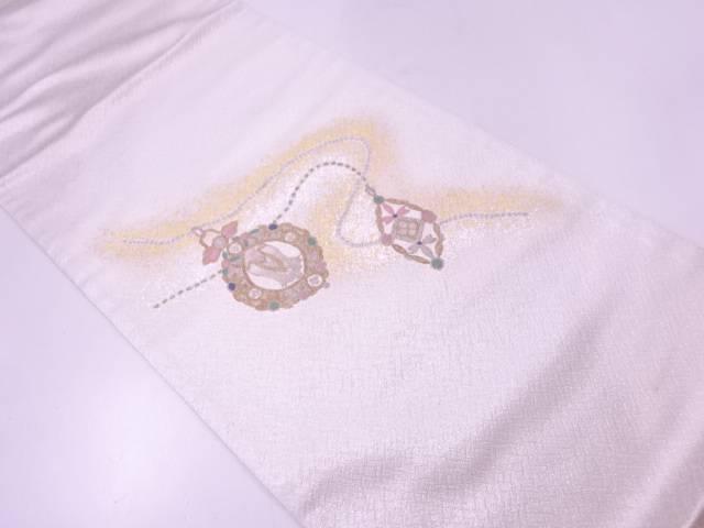 【IDN】 未使用品 相良刺繍アクセサリー模様袋帯(未仕立て)【リサイクル】【着】