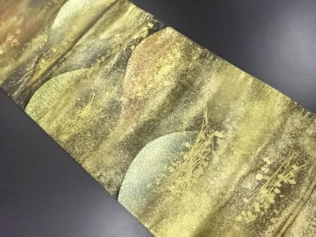 【IDN】 本金遠山に箔散らし模様織り出し袋帯【リサイクル】【中古】【着】