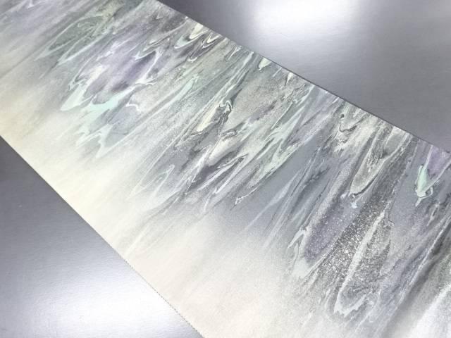 【IDN】 松島織物製 平成流紋箔絣模様袋帯【リサイクル】【中古】【着】