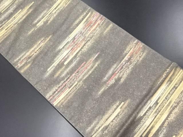 【IDN】 未使用品 金糸螺鈿織霞模様織り出し袋帯【リサイクル】【着】