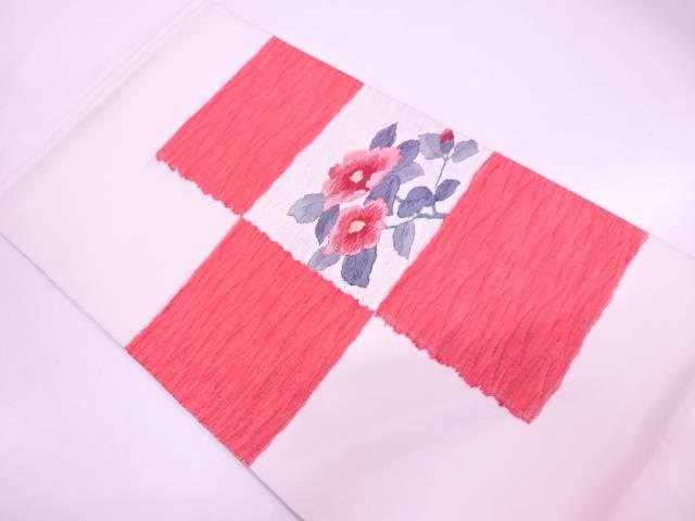 【IDN】 すくい織椿模様織出し袋帯 【リサイクル】【中古】【着】