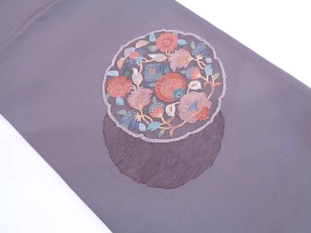 【IDN】 未使用品 明綴れ草花模様織出し袋帯【リサイクル】【着】