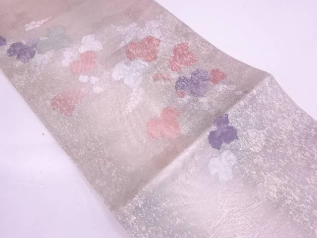 【IDN】 紗 蔦の葉模様織出し袋帯【リサイクル】【中古】【着】