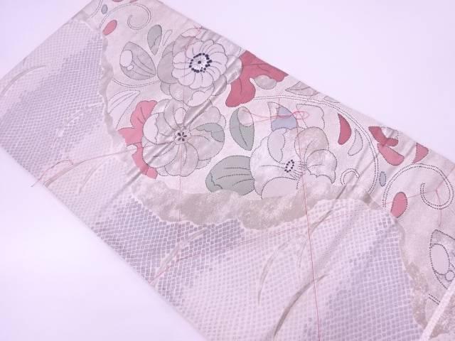 【IDN】 未使用品 草花に鹿の子模様織出し袋帯【リサイクル】【着】