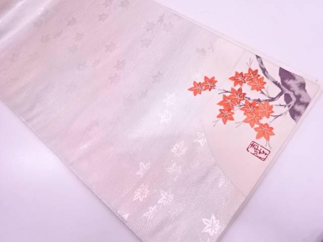 【IDN】 本金箔紅葉模様織出し袋帯【リサイクル】【中古】【着】