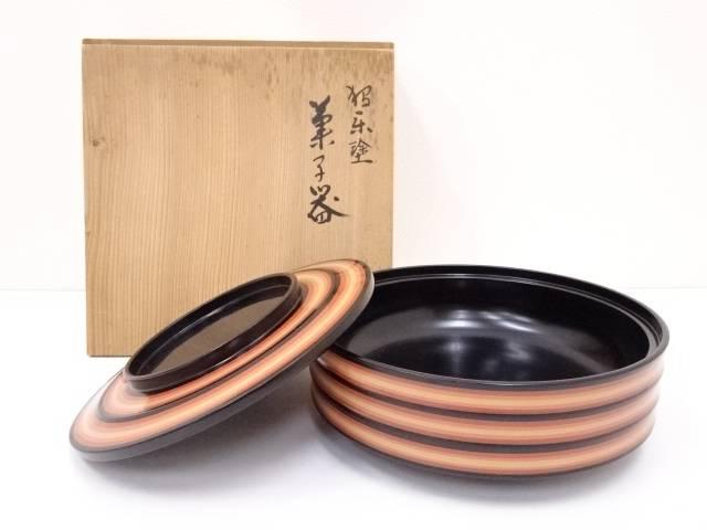【IDN】 独楽塗菓子器【中古】【道】