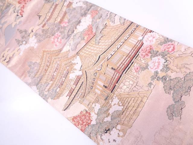 【IDN】 奈良室生寺模様織出し袋帯【リサイクル】【中古】【着】