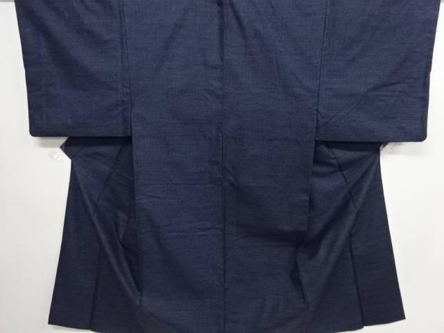 【IDN】 亀甲絣柄織り出し手織り紬男物着物アンサンブル【リサイクル】【中古】【着】