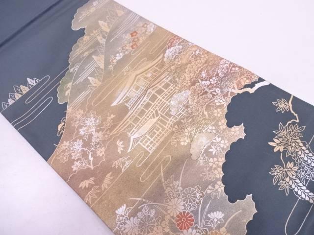【IDN】 未使用品 金彩螺鈿金閣寺模様袋帯【リサイクル】【着】