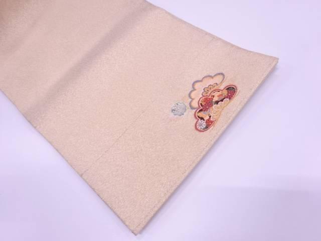 【IDN】 笠松に蝶・花模様織出し袋帯【リサイクル】【中古】【着】
