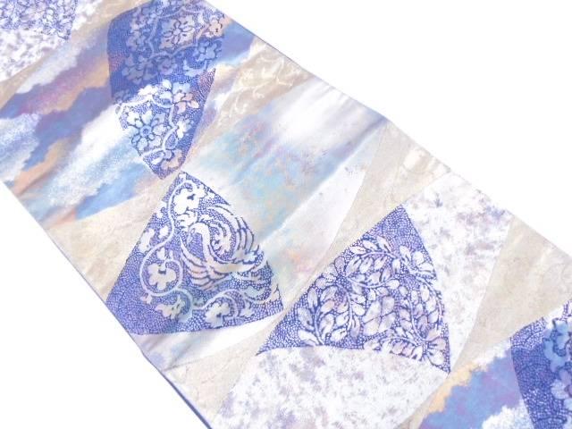 【IDN】 引箔花鳥模様織出し袋帯【リサイクル】【中古】【着】