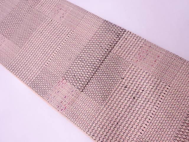 【IDN】 変わり織抽象模様全通袋帯【リサイクル】【中古】【着】