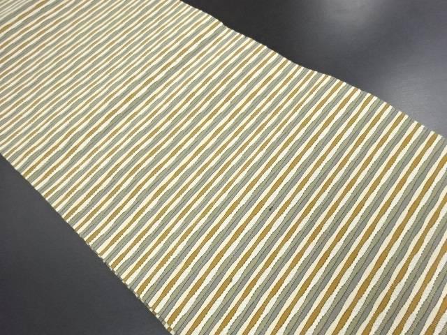 【IDN】 未使用品 綴れ 横段織り出し名古屋帯【リサイクル】【着】