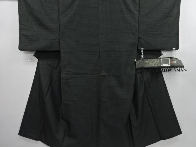 【IDN】 絣横段織り出し男物着物アンサンブル・長襦袢セット【リサイクル】【中古】【着】
