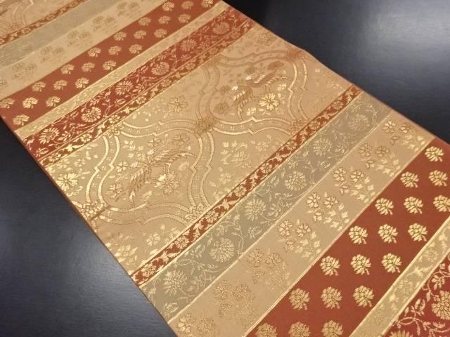 【IDN】 本金ペルシャ花紋織り出し袋帯【リサイクル】【中古】【着】